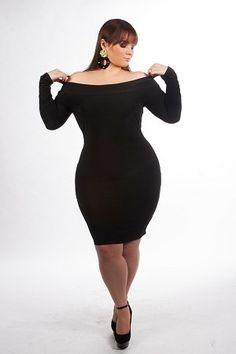 d93410180279 Black Kimmie Off Shoulder Dress by Curvaceous Boutique on CurvyMarket.com  Plus Size. Michael Kinney