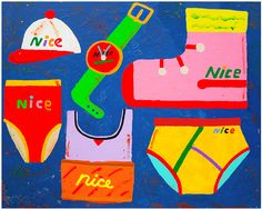 Misaki Kawai. Nice Goods, 2015. Acrylic on canvas.