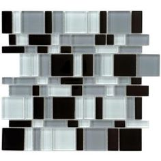 Tessera Magic 11-3/4 in. x 11-3/4 in. Night Glass Mesh-Mounted Mosaic Tile