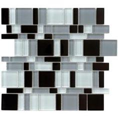Tessera Magic 11-3/4 in. x 11-3/4 in. Night Glass Mesh-Mounted Mosaic Tile