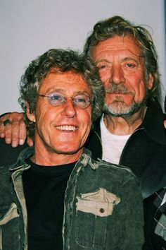 Robert Plant of Led Zeppelin and Roger Daltrey of The Who