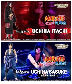 Premium Bandai S.H.Figuarts Naruto UCHIHA SASUKE Itachi Battle & UCHIHA ITACHI #BANDAI