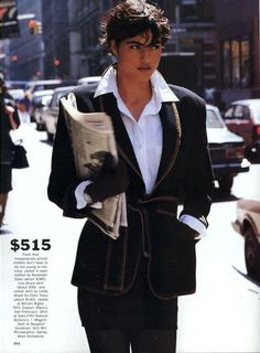 'Dress For Less' from……….Vogue November 1989 feat Marielle MacVille