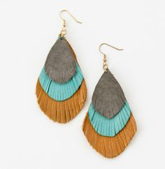 Annie's feathered earrings