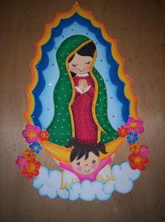 Imagenes hechas en foami de la virgen de Guadalupe - Imagui
