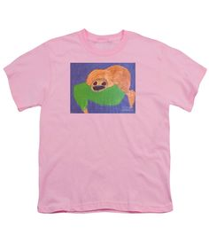 Patrick Francis Designer Youth Pink T-Shirt featuring the painting Otter 2014 by Patrick Francis