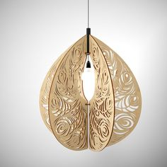 Plywood Lustre Wing, plywood lamp, wooden lamp, wood lamp, beautiful lighting, wooden pendant by iWouldWood