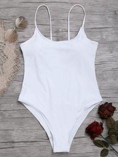 2a9f071fee  ad High Cut Cami One Piece Swimwear. Price   17.99.  Swimwear  . Zaful  BikinisHalter BikiniBikini ...