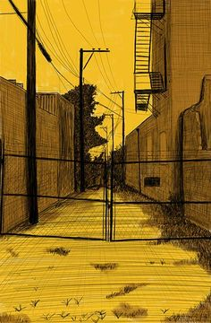"""Alley Study 44 with No Access 