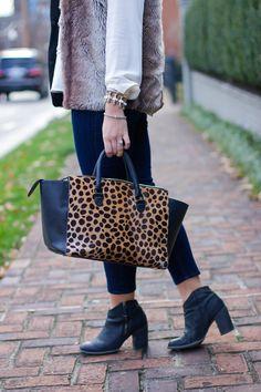 how to style a faux fur vest