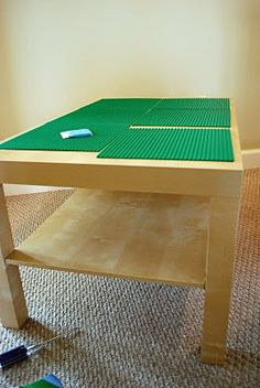 Build your own Lego table from Ikea table....