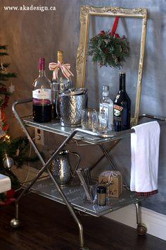 bar cart after Thrift Store Bar Cart   Trash to Treasure