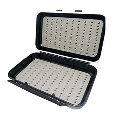 Free Fisher Waterproof Foam Fly Box HB06B  http://fishingrodsreelsandgear.com/product/free-fisher-waterproof-foam-fly-box/?attribute_pa_color=hb06b  Made from tough impact resistant plastic with durable silicone seal to keep your flies nice and dry. Fly box will float if dropped in water. Secure clasp locks fly box closed in a snap.