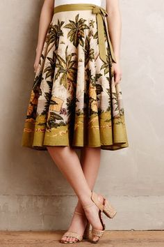 Sun Palm Skirt - anthropologie.com #anthrofave