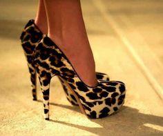 Cheetah print high hills