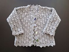 Crochet bamboo baby jacket / Kids clothes / Vest  for by Filfili