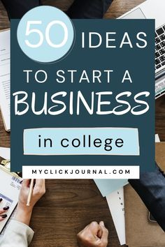 50+ Business Ideas for Students and College Women   startup ideas for students and how to start a business in college   myclickjournal Business Ideas For Students, Great Business Ideas, Creative Business, Business Tips, Online Business, Start A Business From Home, Starting Your Own Business, Best Startup Ideas, Self Improvement Tips