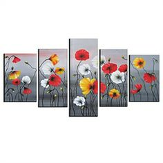 Hand-painted Floral Oil Painting with Stretched Frame - Set of 5 - See more at: http://homelava.com/en-hand-painted-floral-oil-painting-with-stretched-frame-set-of-5-nbsp-p11338.htm#sthash.ONF0sADv.dpuf