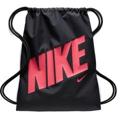 Nike Kids' Graphic Gym Sack Black/Bright Pink 08 - Athletic Sport Bags at Academy Sports