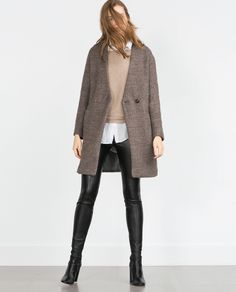 BOUCLÉ WOOL COAT - View all - Woman - NEW IN | ZARA United States
