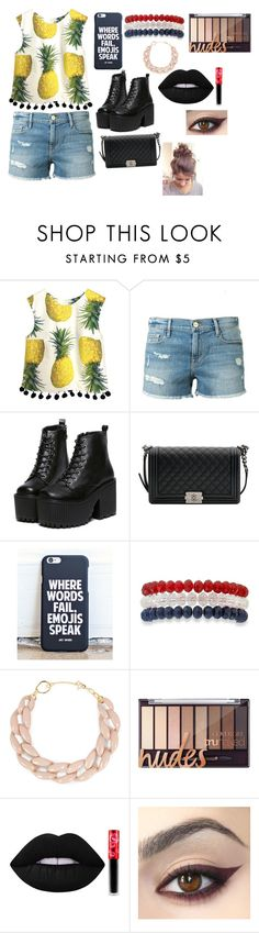 """""""❤️😊"""" by whysorude on Polyvore featuring mode, Frame Denim, Chanel, Kim Rogers, DIANA BROUSSARD et Lime Crime"""