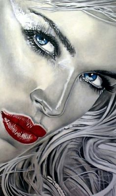 The female universe, paintings by Cinzia Pellin - Ego - AlterEgo Art Visage, Face Art, Art Faces, Portrait Art, Beautiful Paintings, Woman Face, Amazing Art, Awesome, Fantasy Art