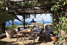 The terrace of Tenuta Borgia Estate in Pantelleria, Sicily.