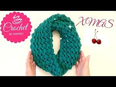 ☕ How to Christmas Crochet Scarf Cowl /Stitch #2 Easy for all lThe Crochet Shop xmas gift - YouTube