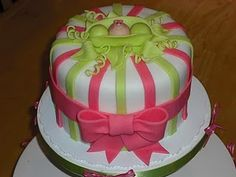pea in a pod baby shower cake! so sweet