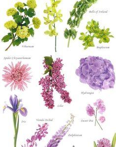 Vous repérez des jolis fleurs à droite à gauche mais vous ne connaissez pas le nom, alors une liste de quelques fleurs, rouge, orange, jaune, vert, violet, rose, blanc… dénichée sur weibo.com
