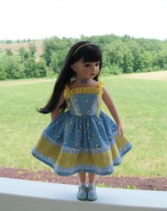 """ON SALE! Sun Dress and Necklace for 20"""" Maru & Friends Dolls / Doll Clothes by Farmcookies by FarmcookiesDesigns on Etsy https://www.etsy.com/listing/234106601/on-sale-sun-dress-and-necklace-for-20"""