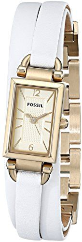 Fossil Delaney ThreeHand Leather Watch *** Read more reviews of the product by visiting the link on the image.