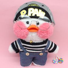 Cafe mimi duck stuffed animals, cute cafe mimi duck plush animals are in styles wearing things like, heart sharp glasses, unicorn headband, free gift. Christmas Duck, Pet Ducks, Mochi, Duck Toy, Baby Icon, Cute Cafe, Pink Rabbit, Plush Animals, Plush Dolls