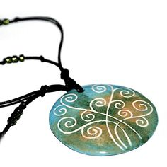 Ceramic necklace  Tree of life by Brekszer on Etsy, $23.00