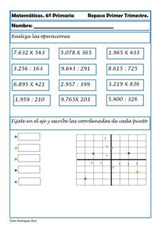 Recursos para el aula: Fichas de matemáticas para sexto de primaria ...