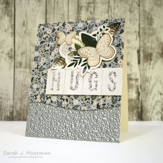 I'm back to share a card set featuring the stunning Simon Says Stamp November Card Kit: Kind Flowers . I'm kind of exc. Scrapbook Supplies, Scrapbook Cards, Cool Cards, Diy Cards, Notes Design, Simon Says Stamp, Pretty Cards, Card Sketches, Card Kit