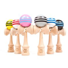 Image of Tribute Kendama - Triple Stripes Adult Drinking Games, Japanese Toys, Gadgets And Gizmos, Place Card Holders, Stripes, Cool Stuff, Ebay, Sunrise, Accessories
