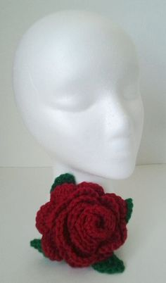 Crochet Red Rose Brooch/ Corsage  mamabecca73 Etsy by daddydan,