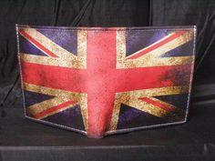 Leder Portemonnaie Vintage FLag Union Jack  von LimitedLeatherWallet auf DaWanda.com
