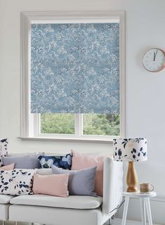 Floral fabrics for cushions and blinds. Living room ideas. Fabric Birds, Floral Fabric, Home Interior Accessories, Perfect Mother's Day Gift, Bird Wallpaper, Rooms Home Decor, Lampshades, Designer Wallpaper, Home Textile