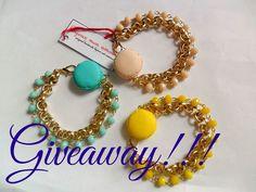 Partecipa al GIVEAWAY!  QUI-----> https://www.facebook.com/129518297087929/photos/a.131139233592502.11055.129518297087929/850676354972116/?type=1&theater #macaron #giveaway macaron bracelet