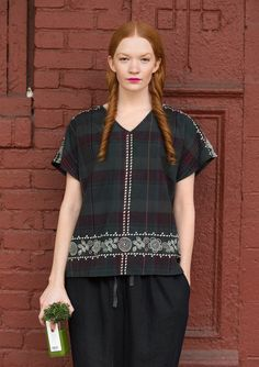 """Gudrun Sjoden Fall 2016. Blus """"Brooklyn"""" i bomull. Blouse from cotton."""