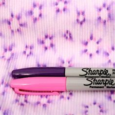 DIY: Sharpie Tie Dye.  Easy! All you need is a couple of colored Sharpies... Rubbing alcohol and 100% cotton shirt.... I would add... After you dry it with the hairdryer... Iron your design with the iron set on cotton. It will help set the design.