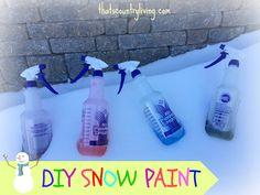 MamaCheaps.com: Frugal Winter Fun: DIY SNOW PAINT