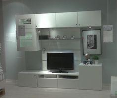 Album - 2 - IKEA réalisations en magasins autour de la télé, gamme Besta, Billy, Hemnes, Expedit...