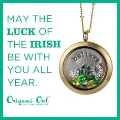 "IRISH Origami Owl living locket- Happy St. Patrick's Day! ORDER at http://debbiel.origamiowl.com/ or Click Photo: 1) Click ""Sign in to My Account"" 2) Create Account 3) Happy Shopping! Debbie Lubker Independent Designer #16172"