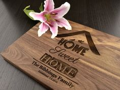 Home Sweet Home Engraved Wood Cutting Board by TrueMementos