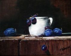 White Crock with Grapes by Jimmie Roberson. Love this.