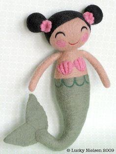 felt mermaid
