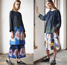 SUNO New York 2015 Pre Fall Autumn Womens Lookbook Presentation - Fringes Knit Tassels Weave Windowpane Check Turtleneck Lace Up Beads Blouse Flowers Embroidery 3D Embellishments Adornments Wide Leg Cropped Palazzo Pants Trousers Culottes Outerwear Blazer Grommets Maxi Dress Florals Print Graphic Pattern Skirt Frock Tunic Tiered Stripes